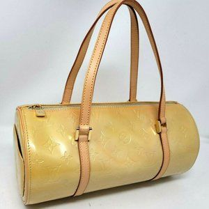 Auth Louis Vuitton Bedford Vernis Leather Tote